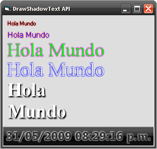 Draw Shadow Text