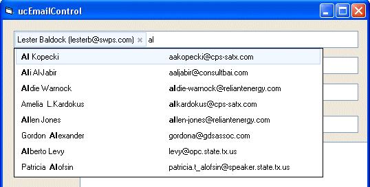 Lista de sugerencias